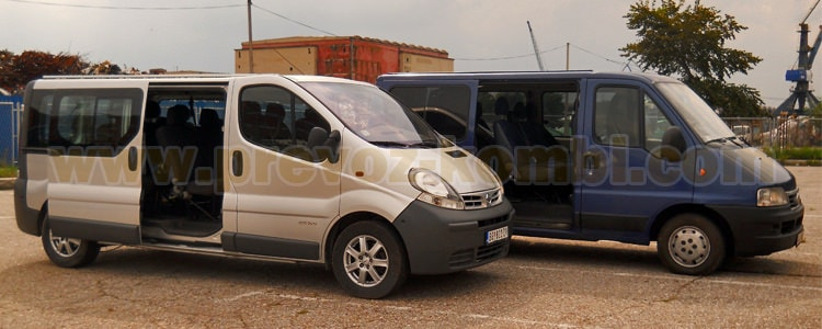 prevoz putnika kombiijem 8+1 sedište svi pravci, prevoz od aerodroma Beograd